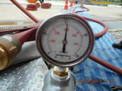 ทำ HYDROSTATIC TEST